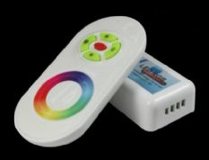 Wireless RF Touching Controller for RGB LED Strip - black or white